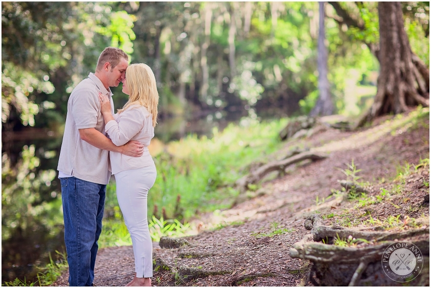 Bride and Groom at Moss Park Engagement Session