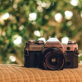 Canon AE-1 for film photography.