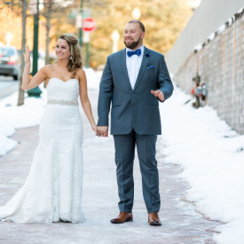 Bride and Groom at Silver Spring Civic Center in Maryland