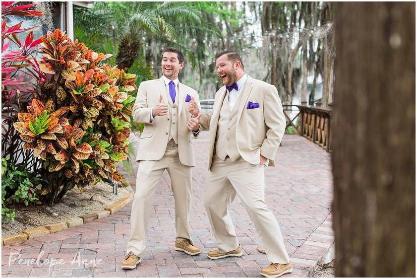 groomsmen acting silly