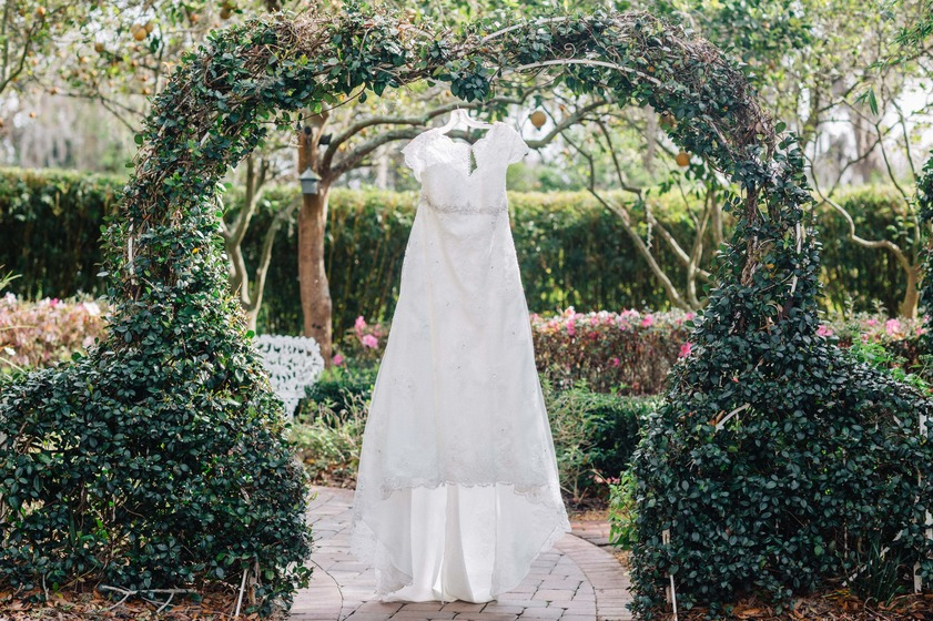 Wedding Dress at Town Manor in Auburndale Florida