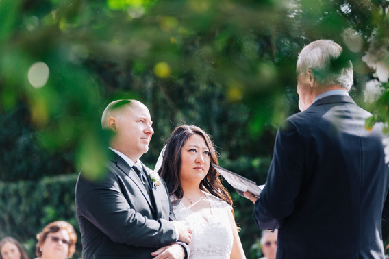Bride and Groom with pastor